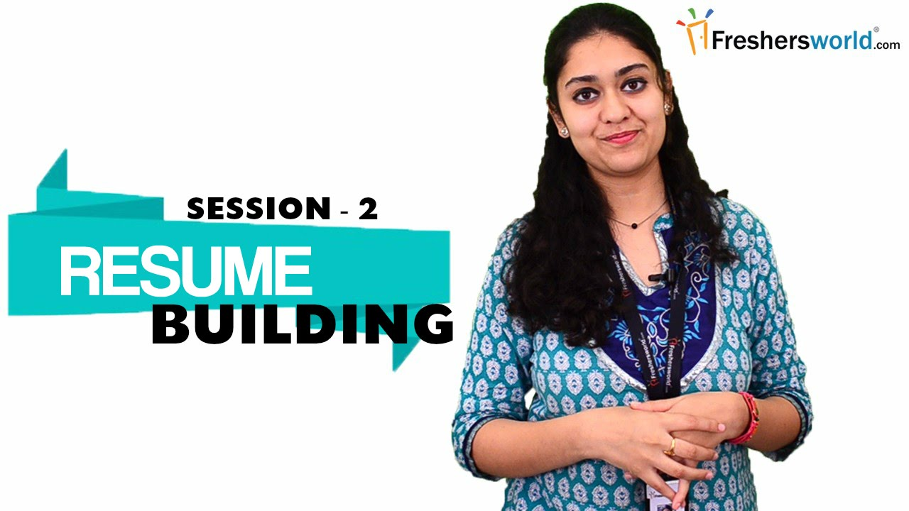 RESUME BUILDING FOR FRESHERS PART 2 Sample Resume Format