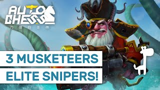 THREE MUSKETEERS Dota Auto Chess ELITE SNIPERS TEAM!