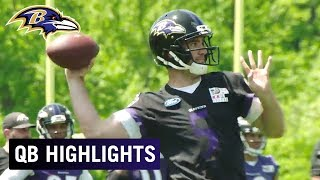 Highlights of Joe Flacco, Lamar Jackson & RGIII Throwing at OTAs | Baltimore Ravens