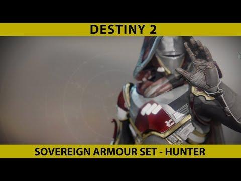 Destiny 2. Hunter Armour Sovereign Armour set from New Monarchy.