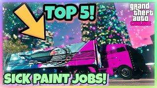 TOP 5 AWESOME PAINT JOBS FOR THE NEW  MOC ( MOBILE OPERATION CENTER){ CINEMATIC}(GUNRUNNING DLC)
