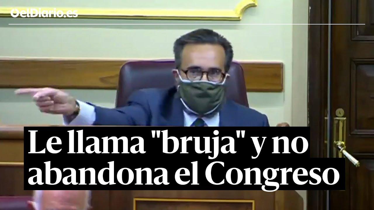 """Download Un diputado de Vox llama """"bruja"""" a una diputada del PSOE y se niega a abandonar el Congreso"""