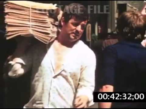 Stock Footage: London, Fleet Street, Newspapers, 1970s #8259