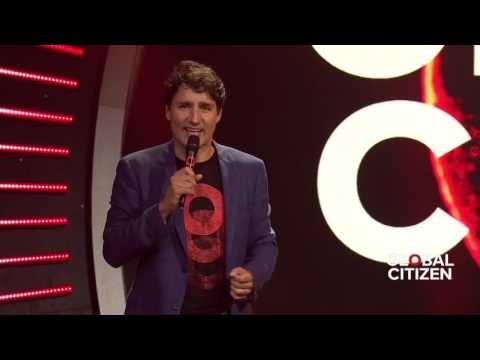 """Justin Trudeau joins """"Global Citizens"""" in Hamburg to talk gender equality and polio"""