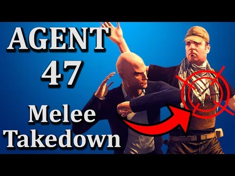 Hitman Absolution MELEE TAKEDOWN | Agent 47 Fighting Style