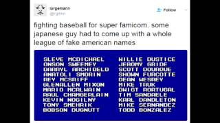 fake american names in a japanese baseball game