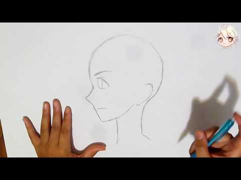 EASY How To Draw Manga Boy's Face Side View! Very Basic For Beginners!