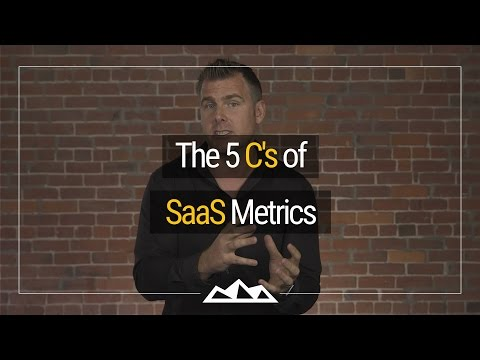 The 5 C's of SaaS Metrics | Dan Martell