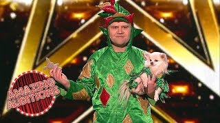 America's Got Talent: The Champions - Piff the Magic Dragon - World's Most Laid-Back Magician