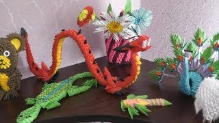 My Work In The Art 3d Origami (some)