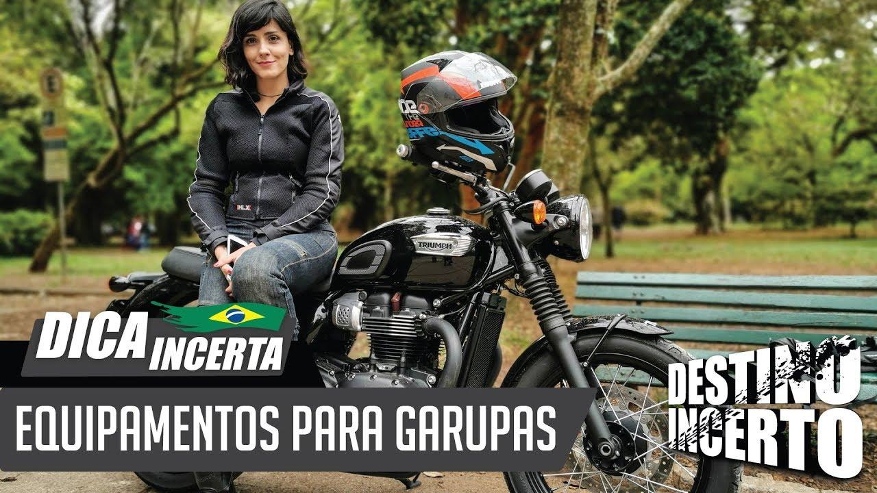EQUIPAMENTOS PARA GARUPAS EM VIAGENS DE MOTO