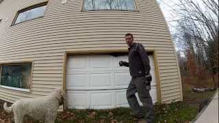 Building Custom Cheap Garage Doors - 121 - My DIY Garage Build HD Time Lapse