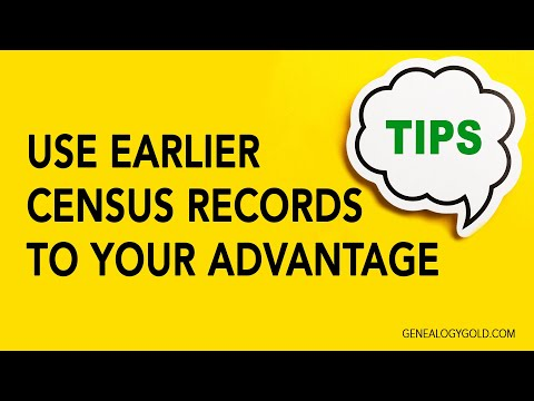 Genealogy Clips #24 | Use Earlier Census Records to Your Advantage | Genealogy Gold Podcast