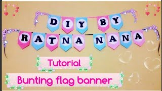 Tutorial | Membuat Bunting Flag Banner | Mudah & Gampang | Easy Diy |