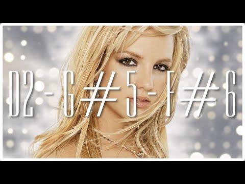 Britney Spears : Complete Studio Vocal Range (D2 - G#5 - F#6)
