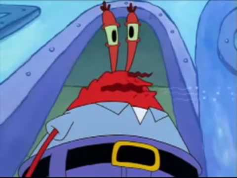 Mr Krabs sings the worlds shortest song! You Suffer  Napalm Death