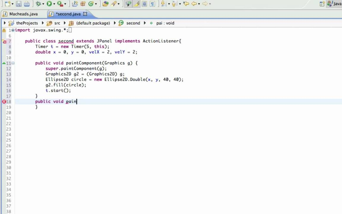 Drawing Lines In Java Gui : Java gui lesson moving a graphic youtube