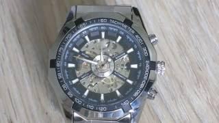 Часы Winner Skeleton с алиэкспресс . Winner skeleton watch aliexpress . Механічний годинник