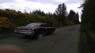 Burnout, 1965 Pontiac Parisienne.