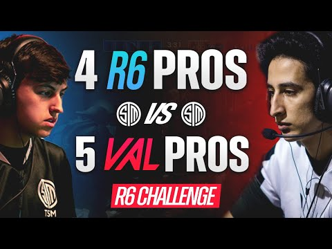 R6 vs VALORANT: 4v5 - What Happens When RADIANT VALORANT PROS Face The BEST RAINBOW SIX SIEGE TEAM?