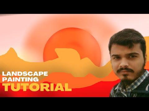 Landscape Digital Painting (2021) Tutorial  II Digital Landscape Painting (Timelapse)