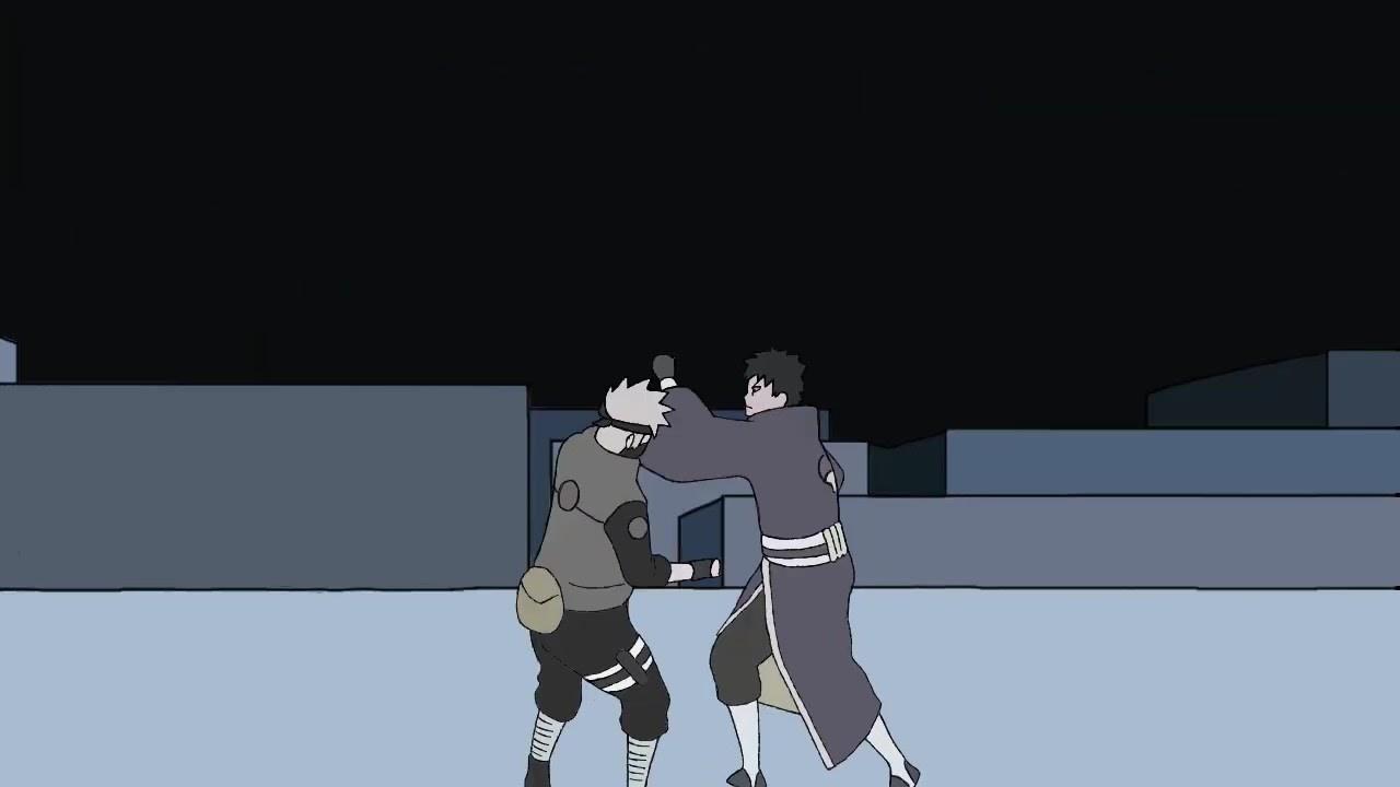 【三秒動畫】火影忍者 卡卡西vs帶土 - YouTube