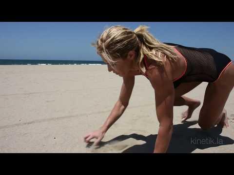 Torrie Wilson Beach Workout