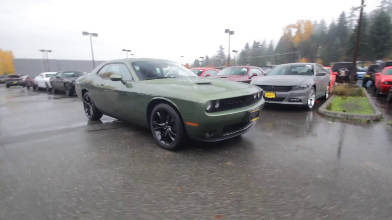 2018 Dodge Challenger Sxt Plus F8 Green Jh172530