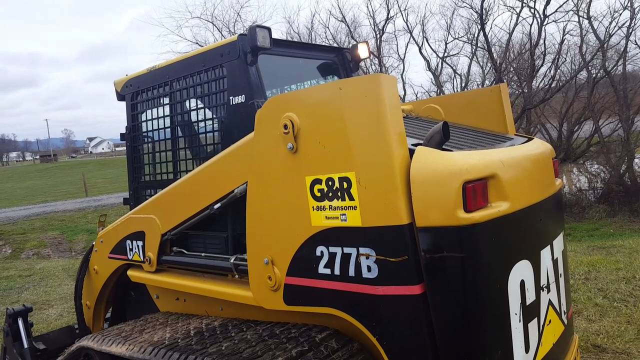 2007 Caterpillar 277B Compact tracked Skid Steer Loader Joystick Control  For Sale Inspection Video!