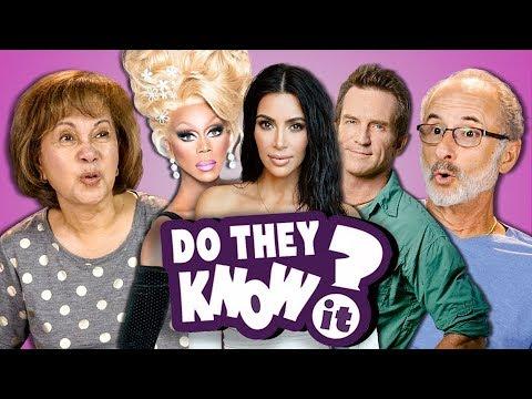 DO ELDERS KNOW MODERN REALITY SHOWS? | Kardashians, Rupaul's Drag Race (REACT: Do They Know It?)
