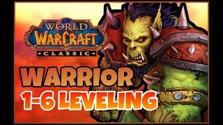 Classic WoW Orc Warrior Leveling 1-6 (22 mins) Speedrun Guide + Tips and Tricks