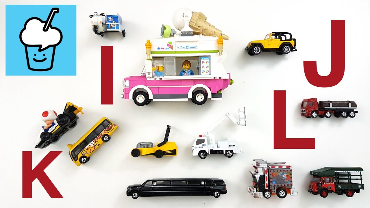 Learning vehicles starting with letter I J K L for kids
