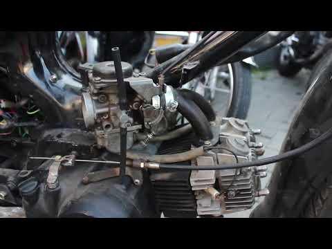 Motor Bebek jadi Moge 2 Cylinder InLine