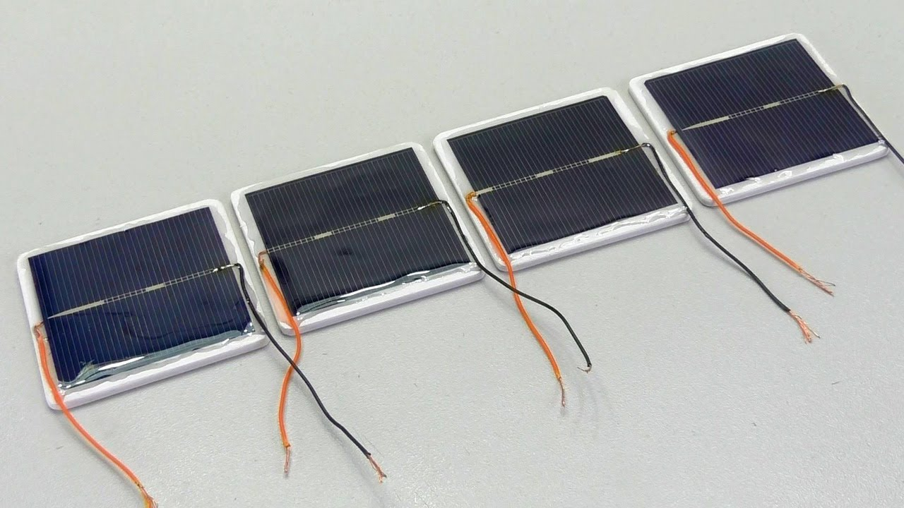 How To Make Solar Panels Yourself With Epoxy Glue Youtube