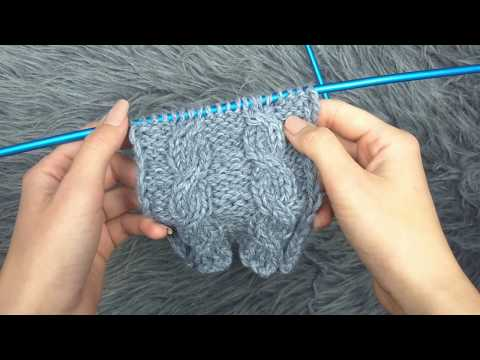 How To Knit C4F Vs C4B Cables  - A Knitting Tutorial
