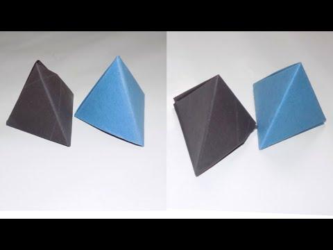 TRIANGULAR BOX   ORIGAMI PYRAMID BOX   EASY PAPER BOX   GIFT BOX FROM PAPER