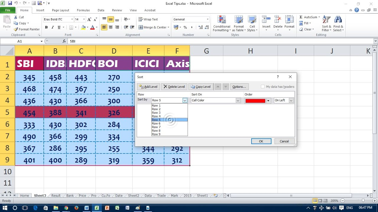 Sort by date in excel in Perth