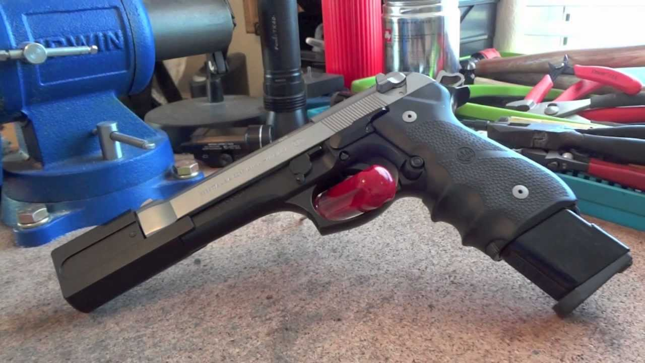 Beretta 92fs with C&S Low Mass Trigger Set, SGS Comp, KKM Barrel and  Graphite Black Cerakote