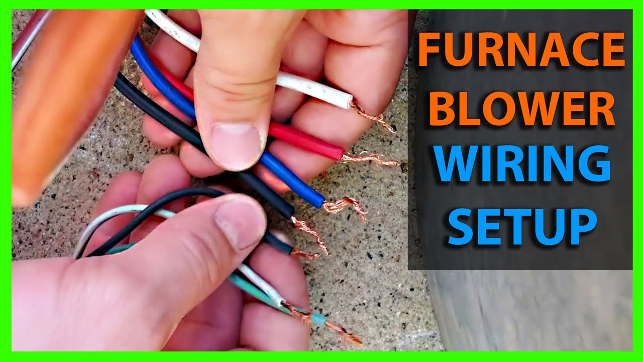 maxresdefault how to wire a furnace or ac blower motor diy youtube 4 Wire Motor Wiring Diagram Old at readyjetset.co