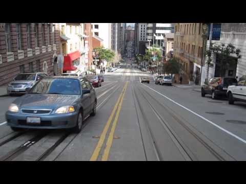 California Street Cable Car Ride Nob Hill Chinatown San Francisco California