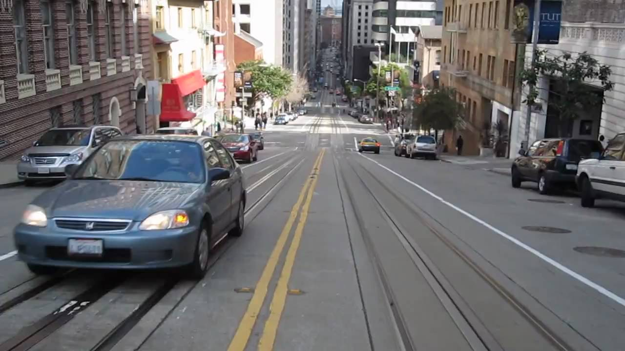 california street cable car ride nob hill chinatown san francisco california youtube. Black Bedroom Furniture Sets. Home Design Ideas