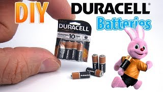 DIY Miniature Duracell battery Pack | DollHouse | No Polymer Clay!