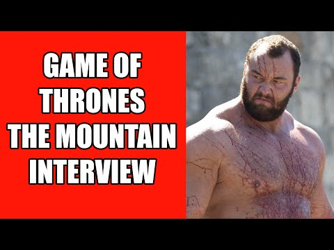 Game of Thrones The Mountain Interview - Hafþór Júlíus Björnsson