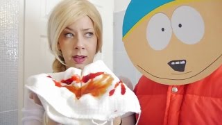 Frozen Elsa & SOUTH PARK Episode! w/ Spiderman Cartman Kyle Stan FUN IRL Superhero in Real