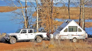 Living Solo in a JEEP GLADIATOR & A frame CAMPER TRAILER