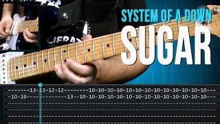 System Of A Down - Sugar (como tocar - aula de guitarra)