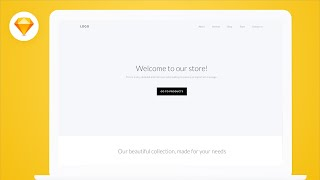 Design an E-Commerce Website Landing Page in Sketch (Tutorial) - Part 1