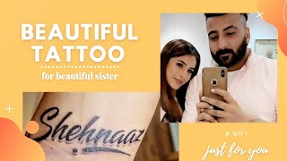 Beautiful tattoo for beautiful sister   proud to be ur brother
