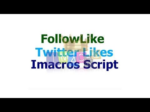FollowLike Twitter Likes Imacros Script