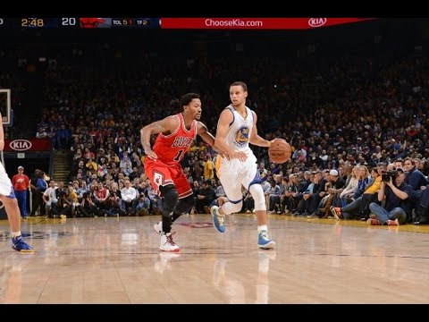 Stephen Curry vs Derrick Rose Full Highlights 2015.01.27 Bulls at GSW - MVP's Battel!!!